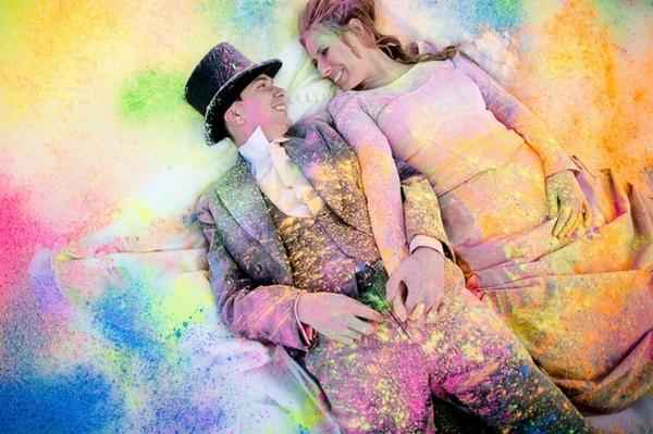 Matrimonio Holi: creare un matrimonio con le polveri Holi Colors