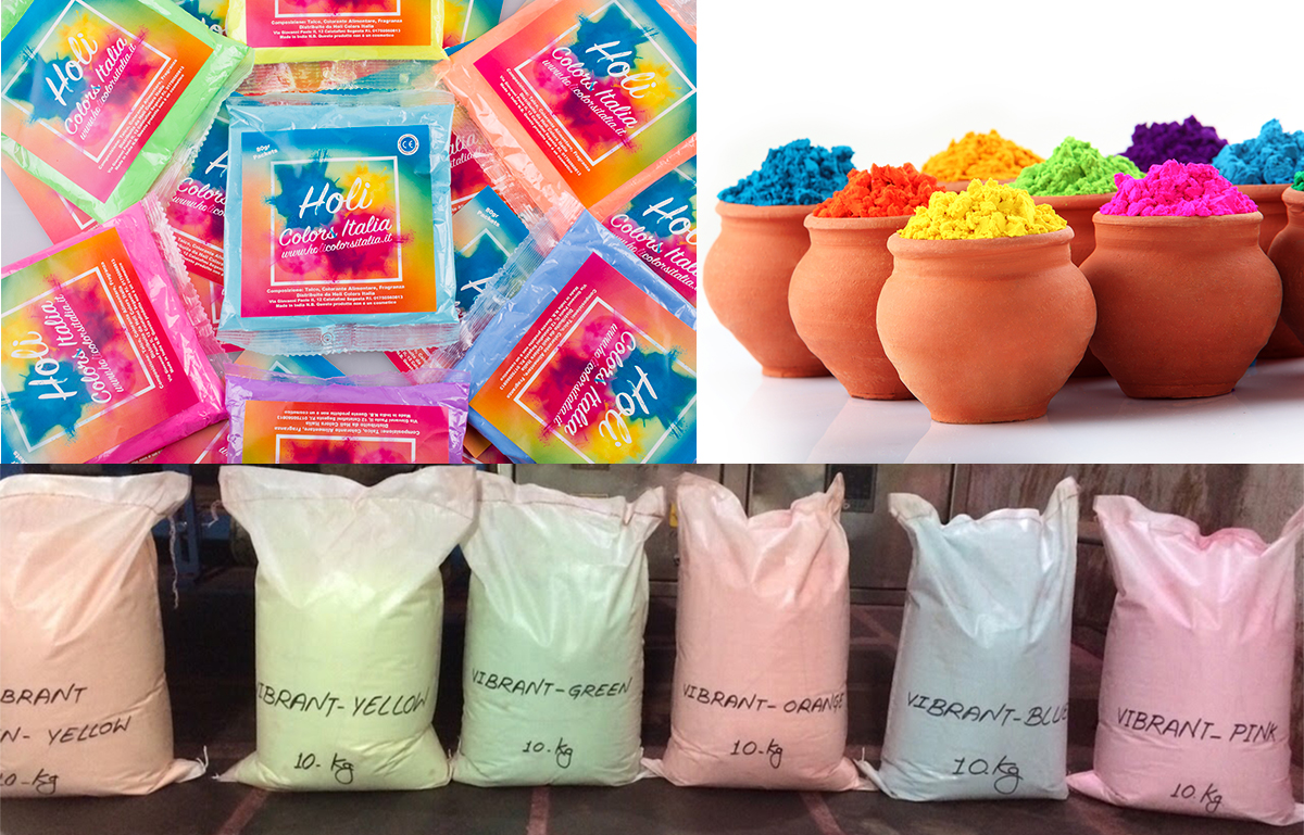 100 gr holi color power packets 4 or 5 adult hand fist available 8 colors 5 for fluo version - Color Packets